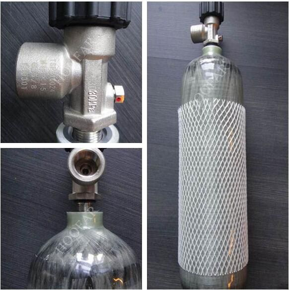 Lighter weight full wrapped 6.8L carbon fiber gas cylinder for Air Gun