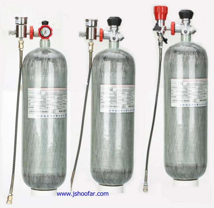 Factory Directly sale 300 bar 4500 PSI Carbon fiber wrapped Gas Cylinders