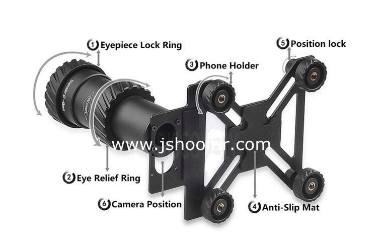 Rifle scope phone mount