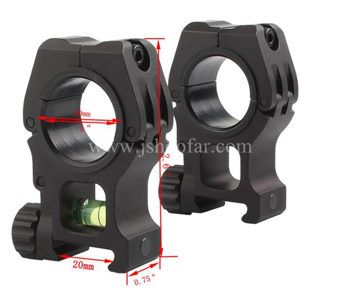 Tactical Airsoft M10 QD Separate Scope Mount Range Mount With Bubble Level For 20MM Picatinny Weaver Rail Hunting Accessory